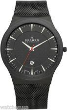 Skagen Men's 234XXLTB Black Titanium Mesh Steel Watch