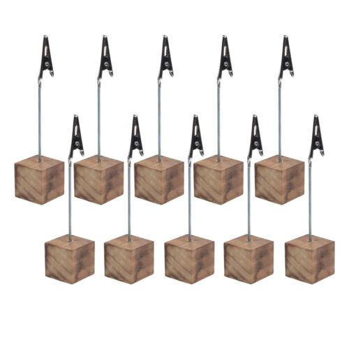 10pcs Cube Wire Card Photo Clip Stationery Gift Alligator Clips New