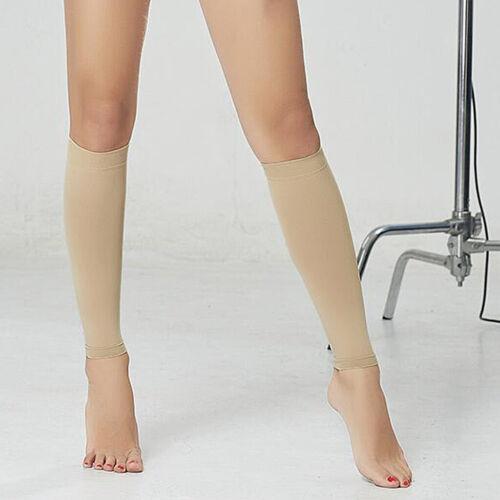 Compression Socks,Hauteur Chaussettes de Maintien Mi-Bas Opaques de Contention