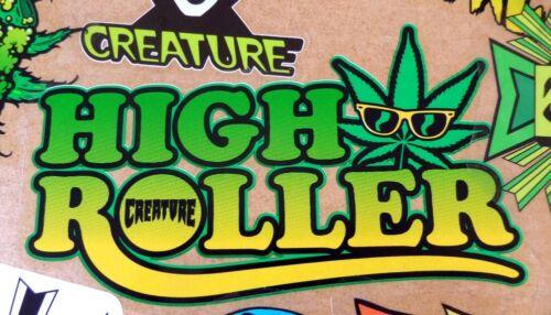 Creature Skateboard Sticker High Roller weed cannabis skunk marijuana 15cm wide