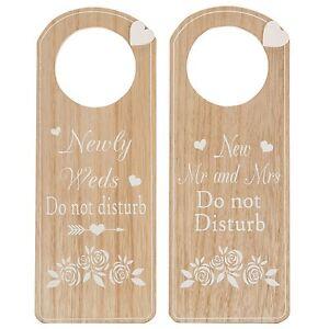 wedding day big day do not disturb sign mr mrs newly weds door