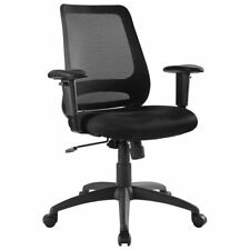 Modway Forge Mesh Ergonomic Adjustable Swivel Office Chair In Black