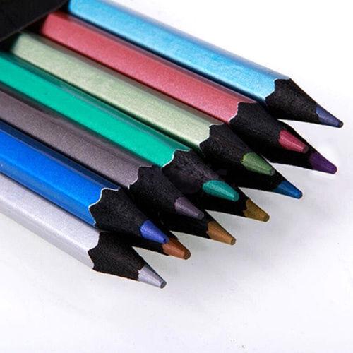 12 Ungiftig Metallic Buntstifte Malstifte Künstlerfarbstifte Neuer Stil
