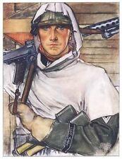 German WW2 SS Oberscharfuhrer Ernst Krause Waffen SS Poster