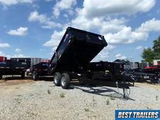 2021 Hawke 6 X 10 Deckover Cardinal 7k New Dump Trailer 7000 Gvwr Black