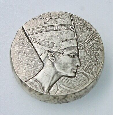 2017 5 oz .999 Silver Republic of Chad Queen Nefertiti by Scottsdale Mint
