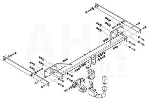 Für Mercedes W 212 4-Tür Stufenheck E-Klasse 09-16 Anhängerkupplung abn AHK