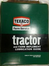 Vintage Texaco Tractor Amp Farm Implement Lubrication Guide Collectible Binder