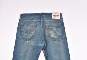 Levis-Hommes-Droit-Bleu-Jeans-Taille-33-34