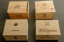 """Set aus 4 Original 6er Weinkisten Holzkisten """"Italien"""" (ohne Flaschen)"""