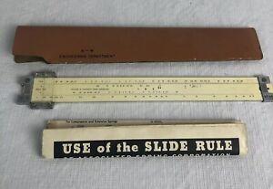 Vintage-Associated-Spring-Corporation-Slide-Rule-1952-Case-1025-Engineering
