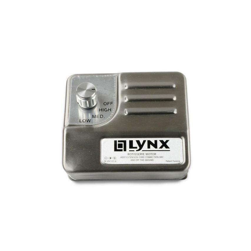 LYNX GRILL Stainless Steel Heavy Duty Rotisserie Motor 80277 3 speed