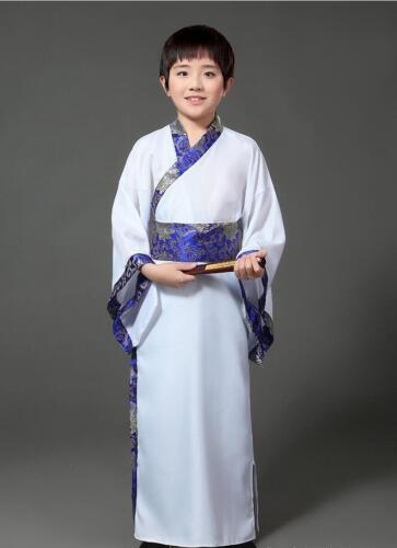 Teenager Kids Boys Ancient Costume Hanfu Chinese Robe Photography Dress Cosplay