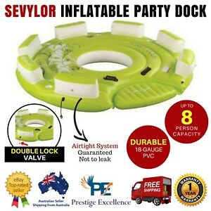 Sevylor Party Dock 8 Person Inflatable Tube Biscuit