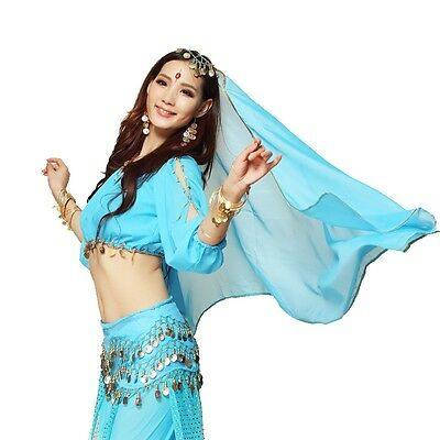 New Sexy Belly Dance Costume Lantern Blouse bra Top 8 colors