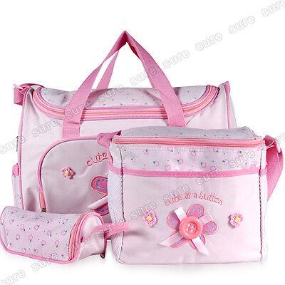 5 tlg. Wickeltasche Pflegetasche Kindertasche Babytasche BRAUN/KHAKI/BLAU/PINK