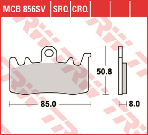 2 Satz TRW Lucas Bremsbelag  Bremsbeläge vorn MCB856SV BMW R1200R RNineT F800R