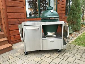 Wonderlijk Custom Table Cart for Big Green Egg Kamado Joe or Primo | eBay SY-36