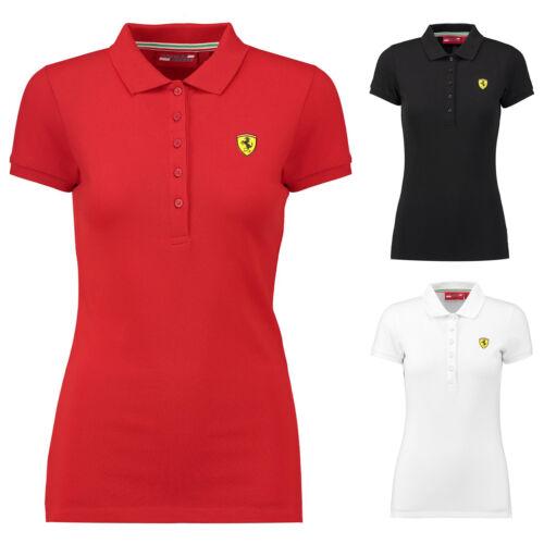 2018 Scuderia Ferrari Womens Ladies Classic Polo Shirt in Cotton Sizes XXS-XL
