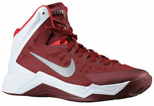 cheap for discount b0d3e 89c00 Image is loading Nike-Zoom-Hyperquickness-TB-Maroon-Basketball-Shoes-599420-