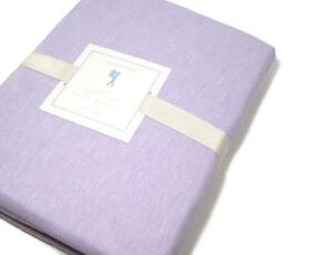 Pottery-Barn-Kids-Linen-Cotton-Pale-Lavender-Purple-Twin-Duvet-Cover-New