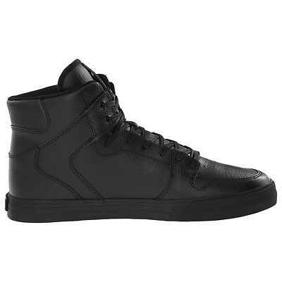 """Supra """"Vaider"""" Shoes (Black/Black-Red) Men's High-Top Leather Lux Sneakers"""