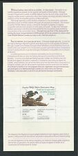 CANADA, # CN-6 WILDLIFE CONSERVATION STAMP BOOKLET 1990, WOOD DUCK