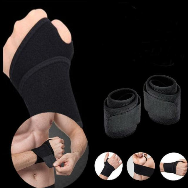Fashion Sport Unisex Wrist Guard Band Brace Support Carpal Pain Wraps Bandage KJ