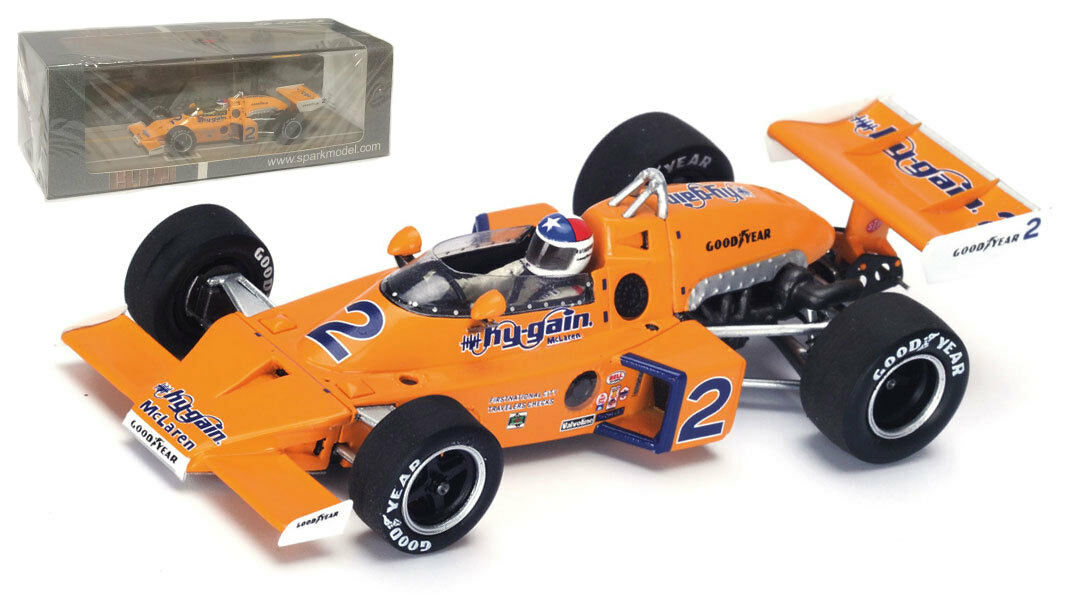 SPARK 43in76 McLaren m16c Winner Indy 500 1976-JOHNNY Rutherford SCALA