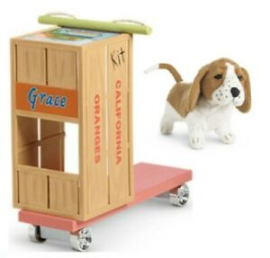 American Girl KIT DOLL SCOOTER + DOG Basset Hound 'Grace' Pet Puppy Molly Emily