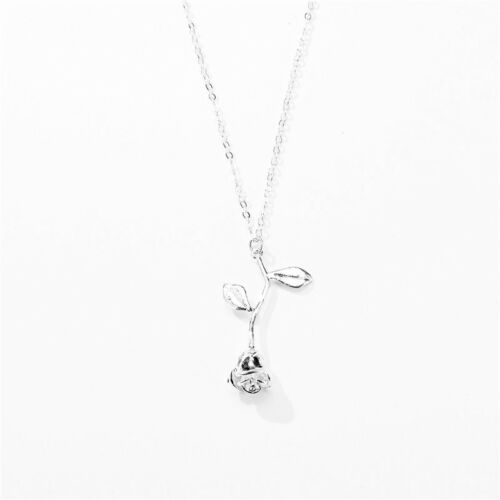 1 Charms Halskette Halsschmuck mit Rosa Anhänger Modeschmuck Geschenk HS