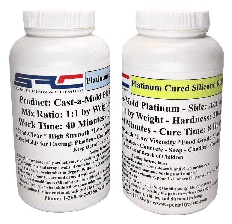 Platinum RTV Silicone Rubber For Mold Making 1 1 Mix Ratio, Food Grade 1 Quart