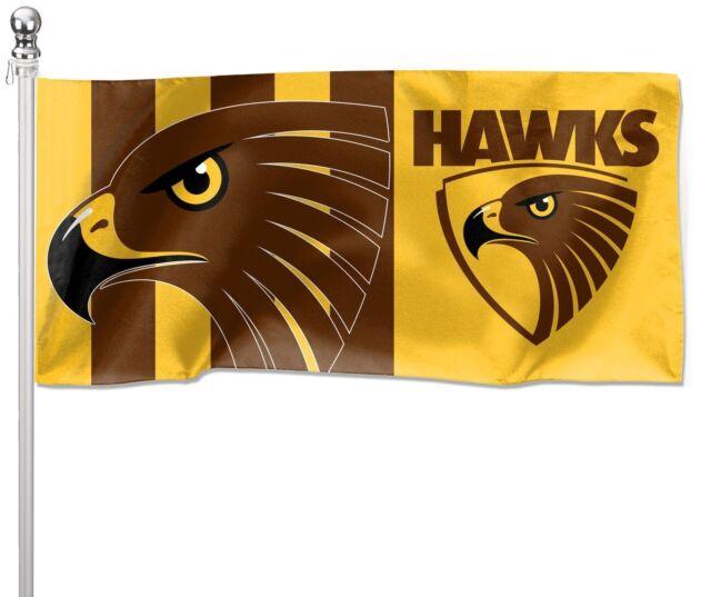 Hawthorn Hawks AFL Pole Flag 1800mm by 900mm BNIP Cape