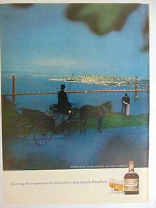 1968 DRAMBUIE Horse Drawn Carriage  vintage art print ad