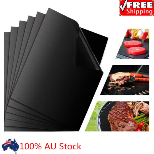 3X Nonstick BBQ Grill Mat Barbecue Baking Liners Reusable Teflon Cooking Sheets
