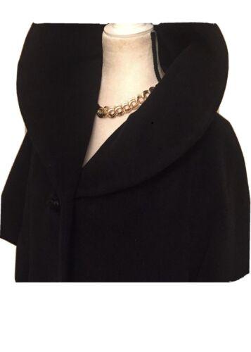 lilli ann vintage Black Swing Coat