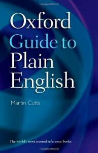 Oxford Guide to Plain English, Cutts, Martin, Like New, Paperback