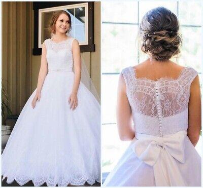 Simple Cheap Wedding Dresses Bridal Gowns A Line Plus Size 4 6 8 10 12 14  16 18 | eBay