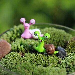 3X Garden Ornament Miniature Snail Figurine Resin Craft Fairy Dollhouse Decor RU