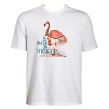 TOMMY BAHAMA L Large T Shirt NWT NEW TAG Gray MAI TAI $49.50 Pink Flamingo