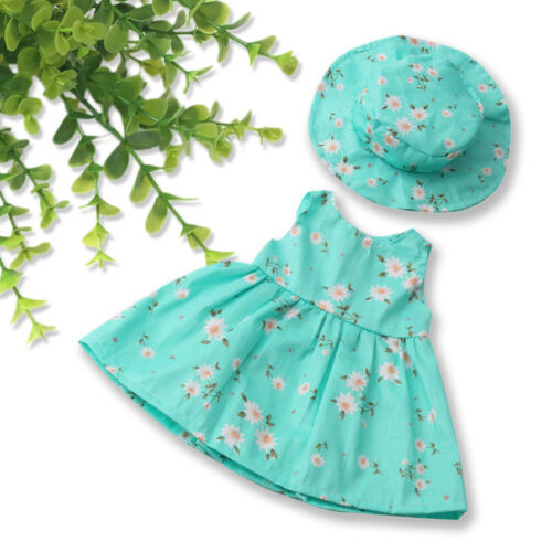 New Summer Floral Dress Party For 18 Inch Girl Doll Clothes Accessory Gif.