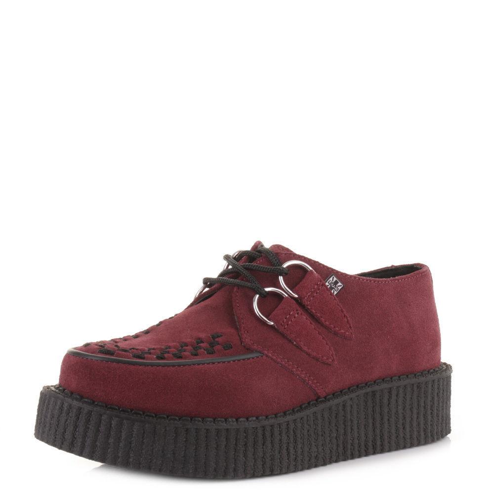Tuk Av8840 T.U.K. Borgogna scarpe unisex Creepers Rosso Borgogna T.U.K. bordeaux in pelle scamosciata Av8840 1fc3d8