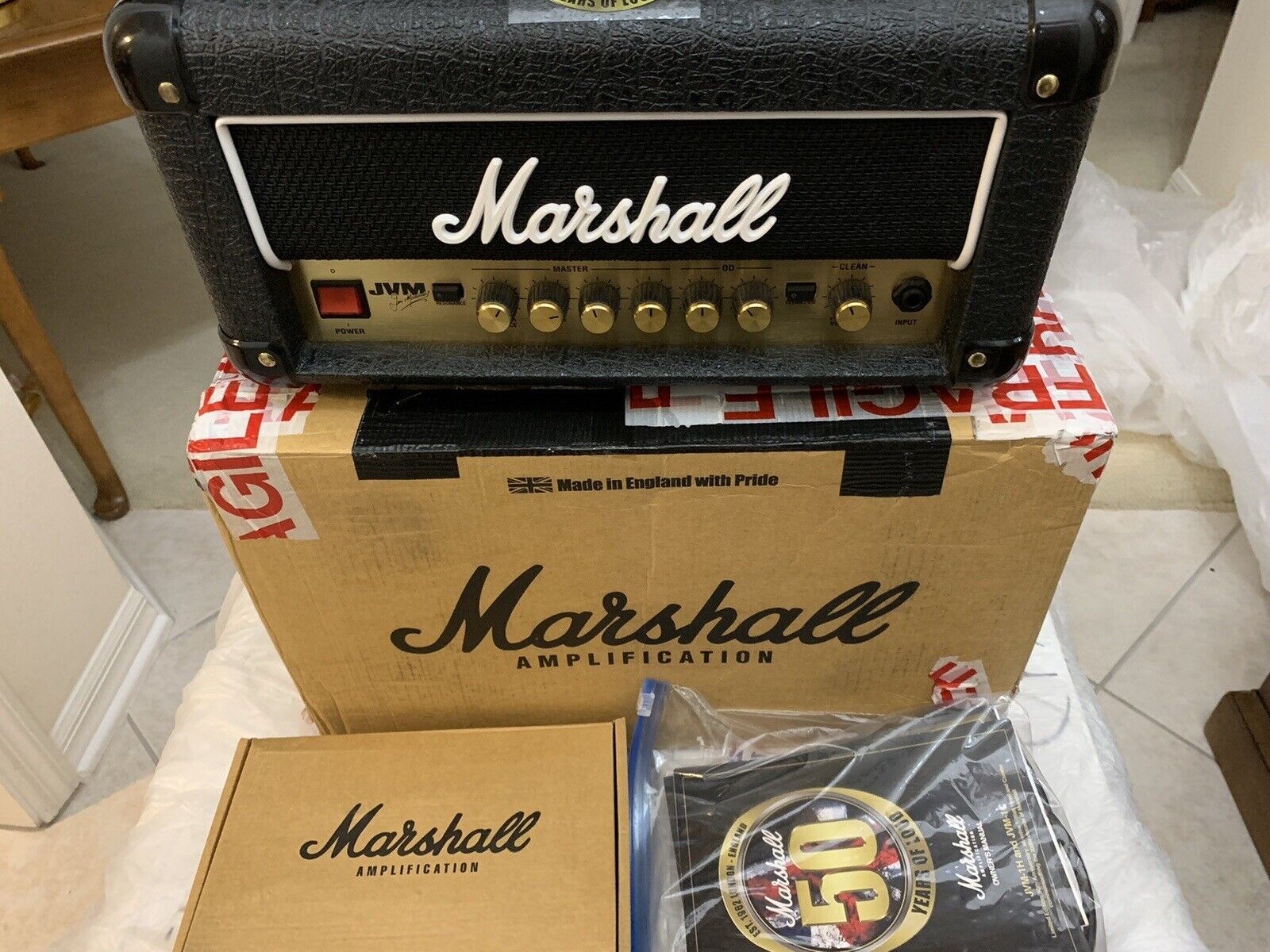 Marshall JVM1H 50th Anniversary 2012 Guitar Head. Buy it now for 1099.00