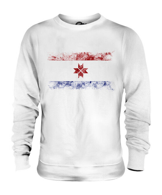 MORDOVIA DISTRESSED FLAG UNISEX SWEATER TOP FOOTBALL GIFT SHIRT CLOTHING JERSEY