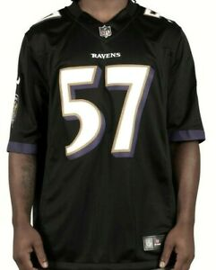 Details about Nike NFL Baltimore Ravens #57 CJ Mosley Sewn On Field Black Jersey 2XL Mens