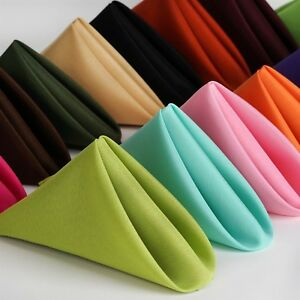50-PK-17x17-inch-Polyester-Napkins-NEW-Wedding-Holiday-Party-15-Colors