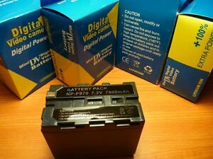Battery-NP-F970-SONY-DCR-VX2100-HDR-FX1-HVR-Z1U-7800mAh-Camcorder-Detector-Power