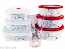 Corelle Splendor Bundle, Includes Bowl Set Microwave Set and Acrylic Glass Cup