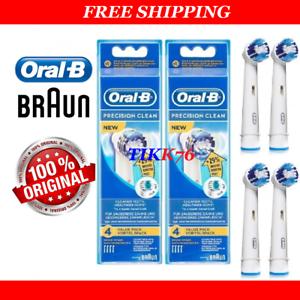 8-GENUINE-BRAUN-ORAL-B-PRECISION-CLEAN-29-TOOTHBRUSH-BRUSH-HEADS-EB20-4-3-2
