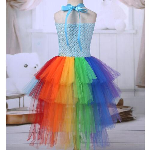 Girls Princess Ballet Tutu Tulle Dress Party Birthday Costume Set+Hairband Hoop
